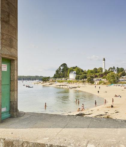 Leuchtturm und Strand Le Coq, Bénodet