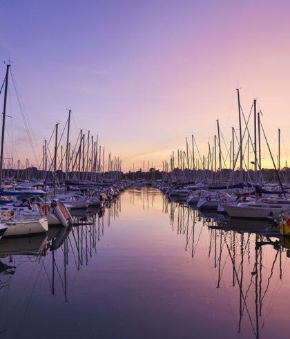 Sonnenuntergang Port La Forêt